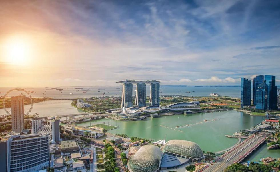 солнечный день в Сингапуре
