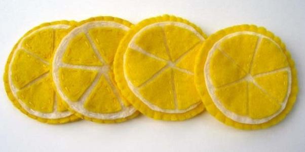 """""""лимончики"""" подставки под горячее"""