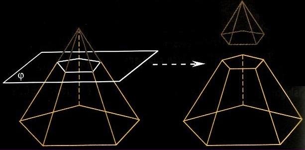 Получение усеченной пирамиды