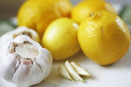 чеснок и лимон