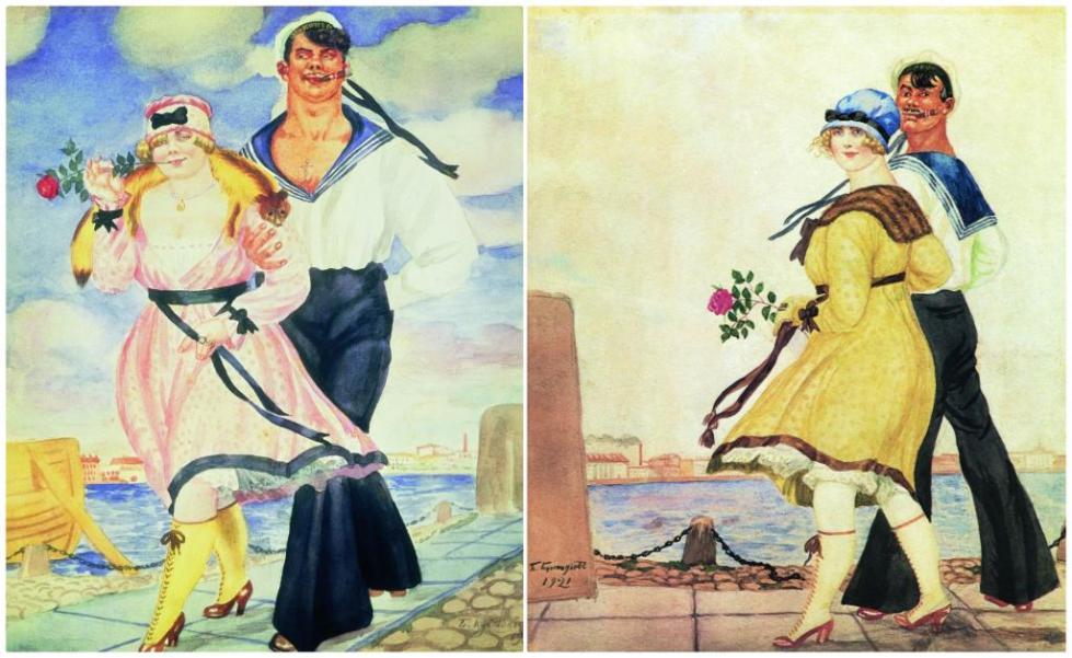 """""""Матрос и милая"""" 1920 и 1921 годы"""