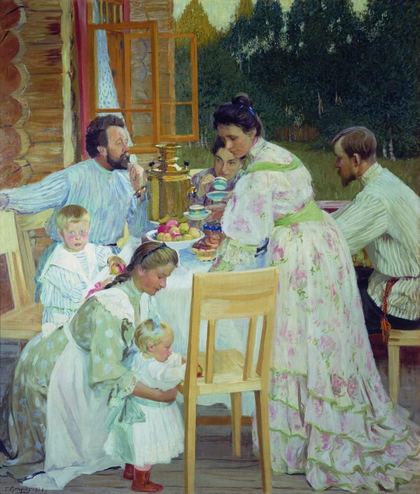 """""""На террасе"""" 1906 год"""