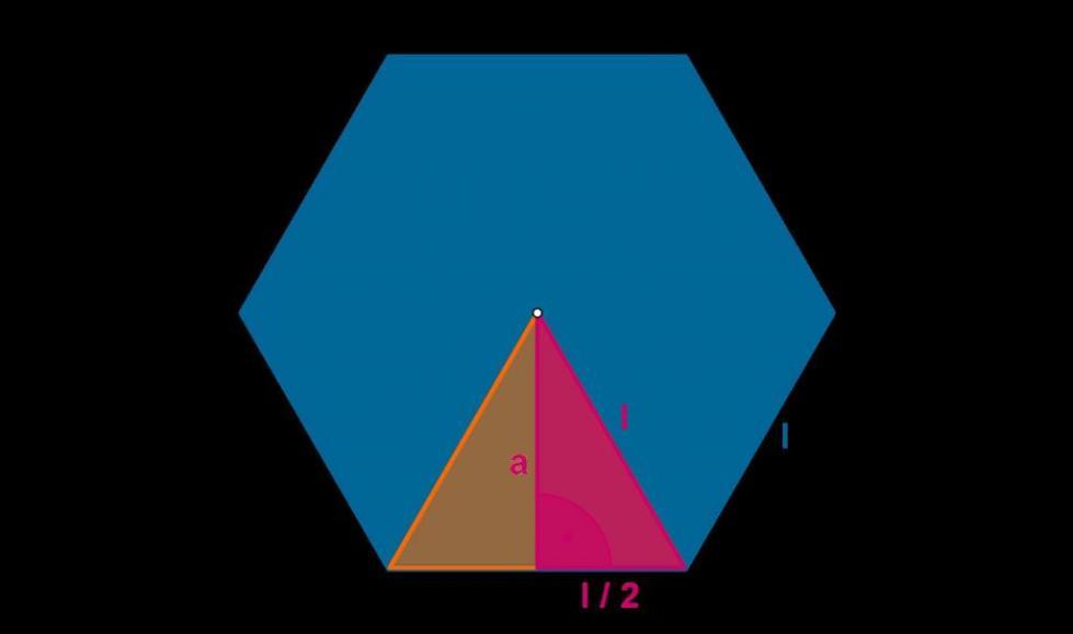 Правильный шестиугольник и апофема