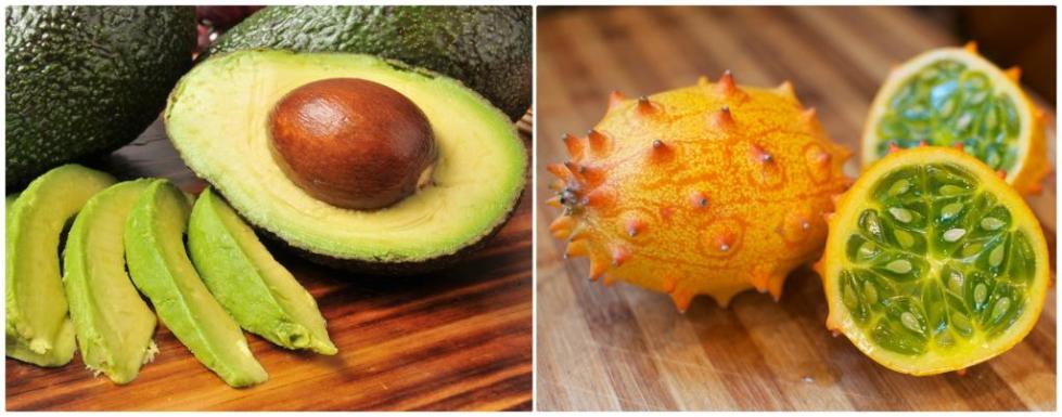 Авокадо и кивано