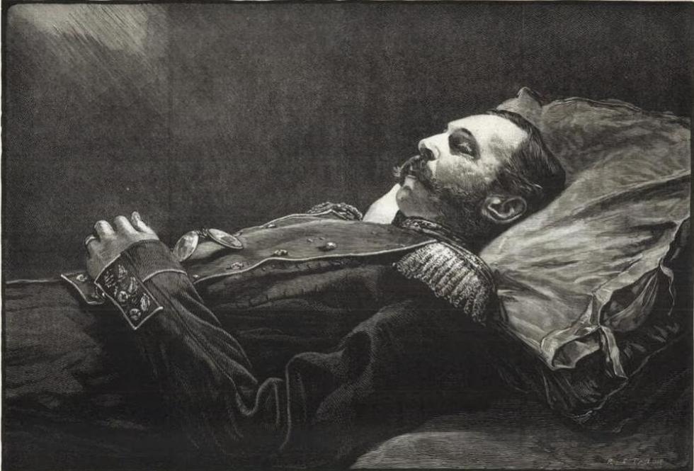 Александр 2 на смертном одре