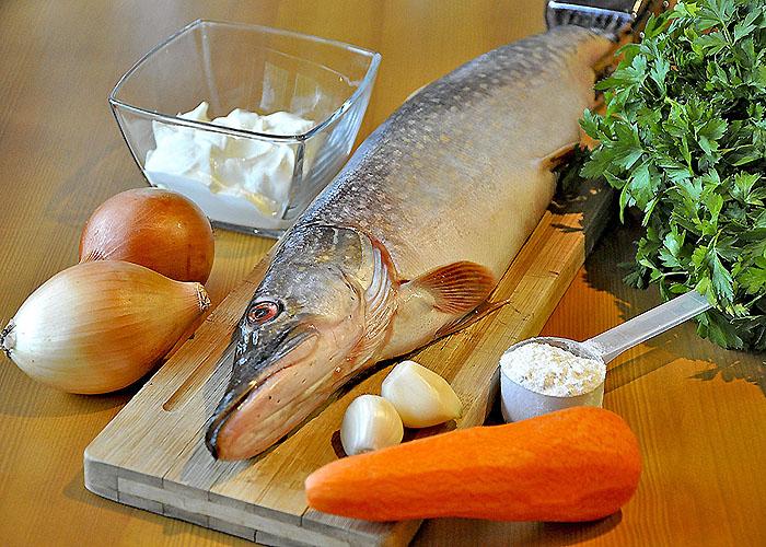 Ингредиенты для приготовления щуки в духовке