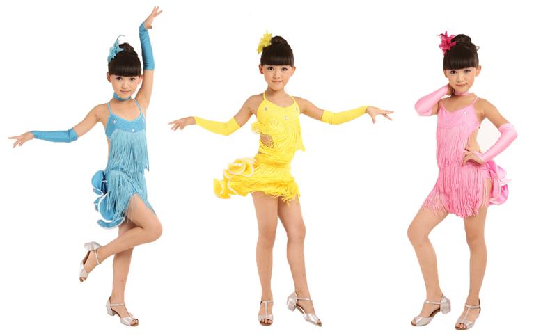 Платье для латиноамериканских танцев для девочек