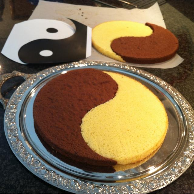 """Секреты приготовления торта """"Инь Янь"""""""