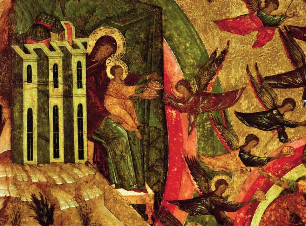 Иисус с Богоматерью