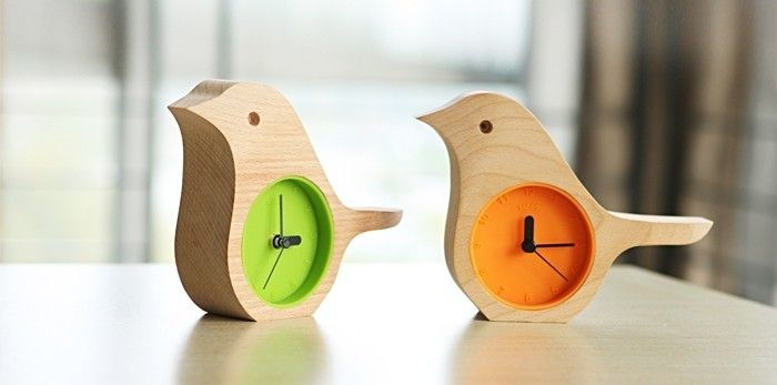 поделка деревянные часы