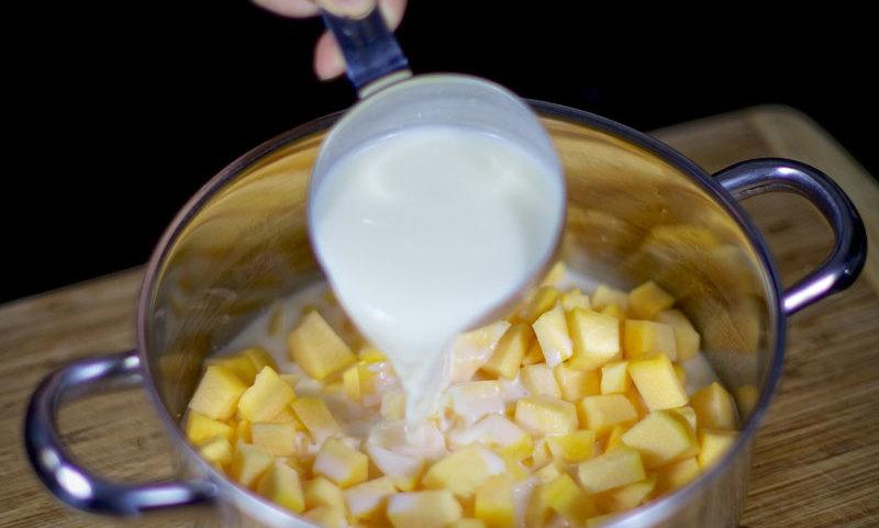 Готовим кашу с молоком