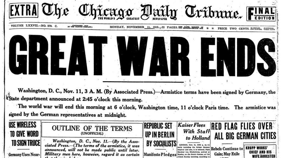 11 ноября окончание 1 мировой войны