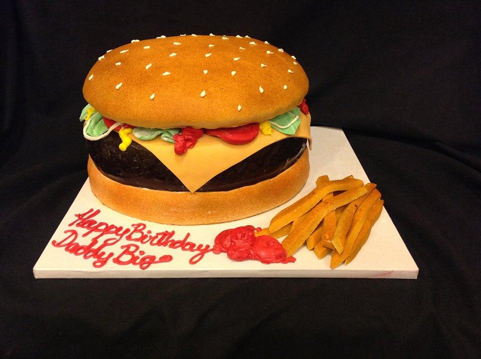 Тортик в виде бургера