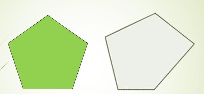 Правильный и неправильный пятиугольники