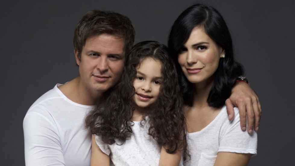 актриса с семьей