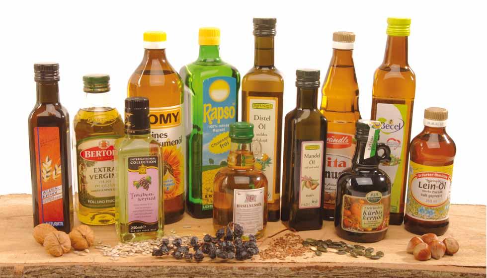 Различные растительные масла