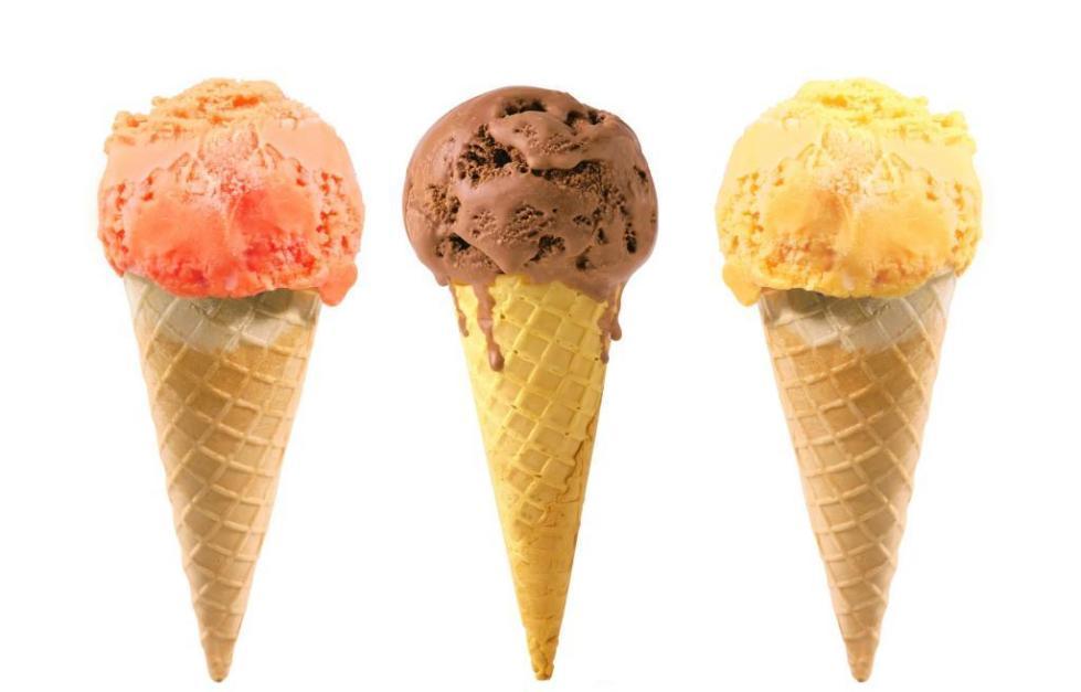 Мороженое в форме конуса