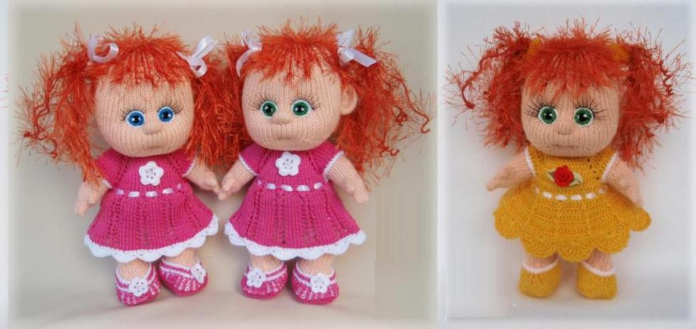 кукла спицами для начинающих