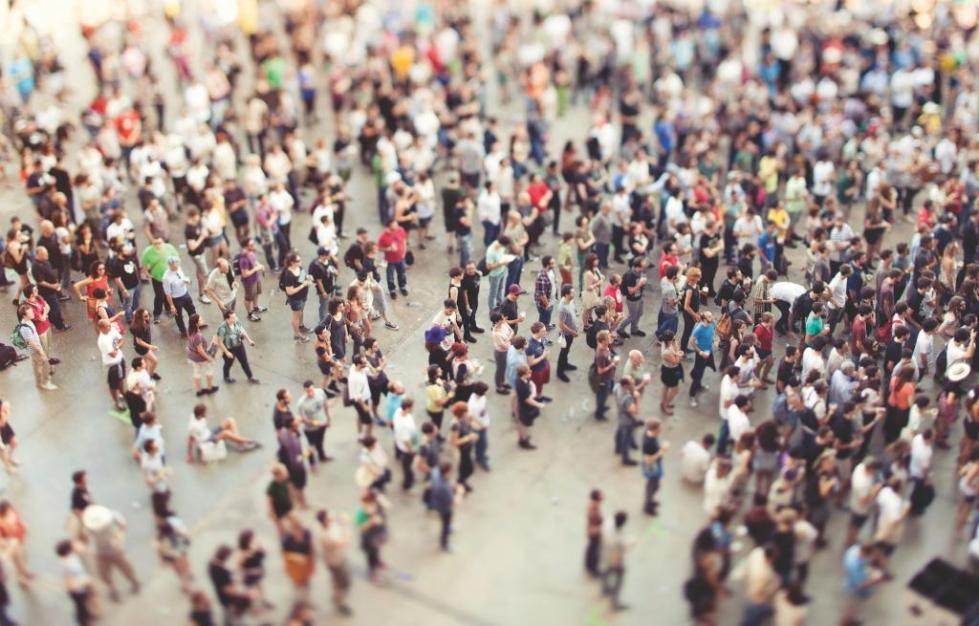 Толпа сверху
