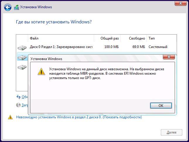 Ошибка установи Windows