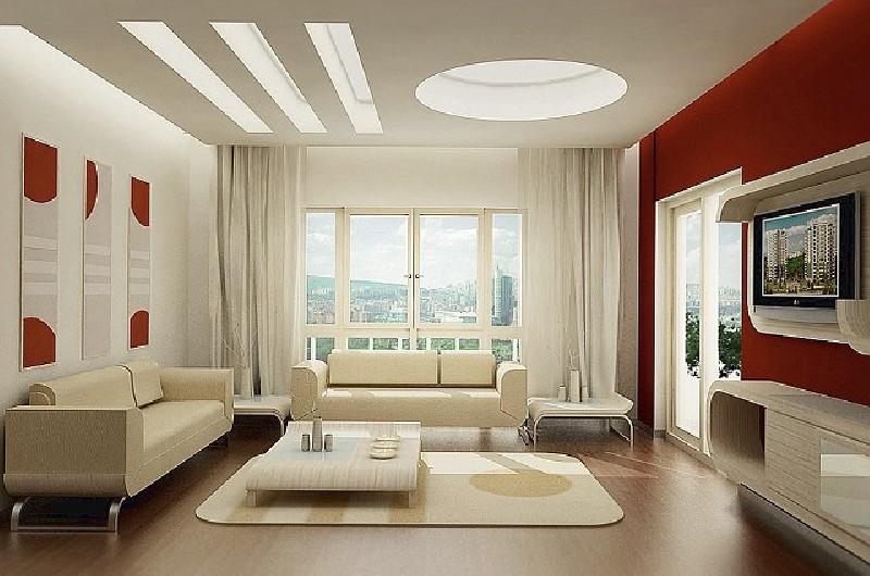 Картины в гостиной в стиле хай-тек