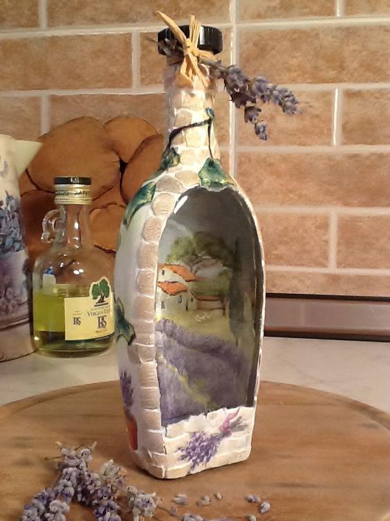 Бутылка с пейзажем
