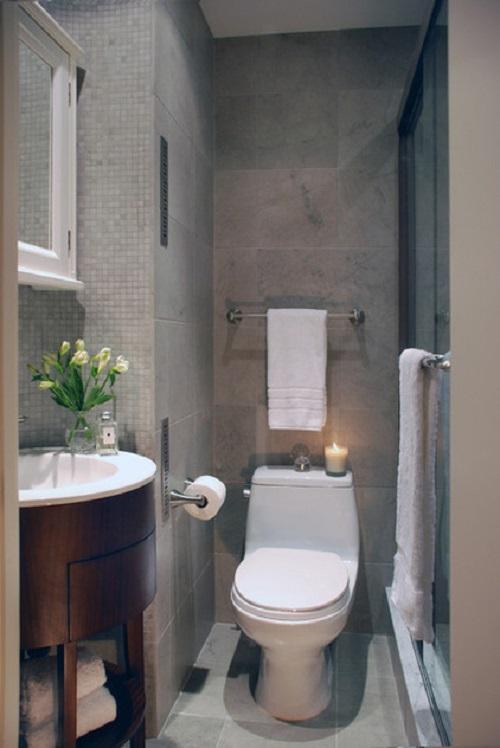 Интерьер туалета отделка