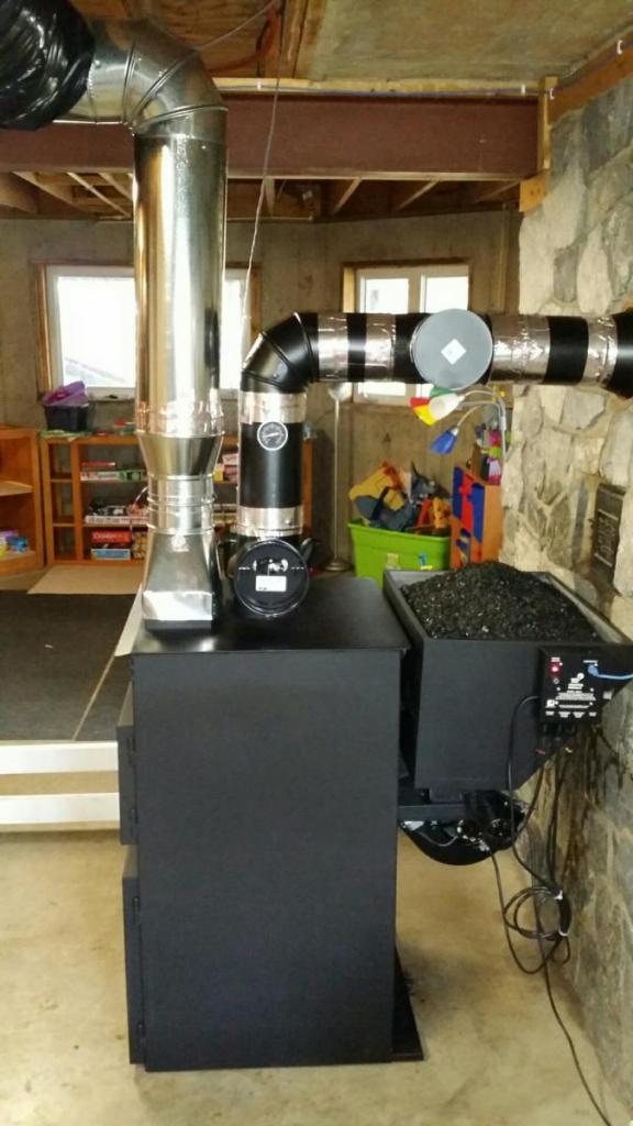 Автоматическая угольная печь для дома