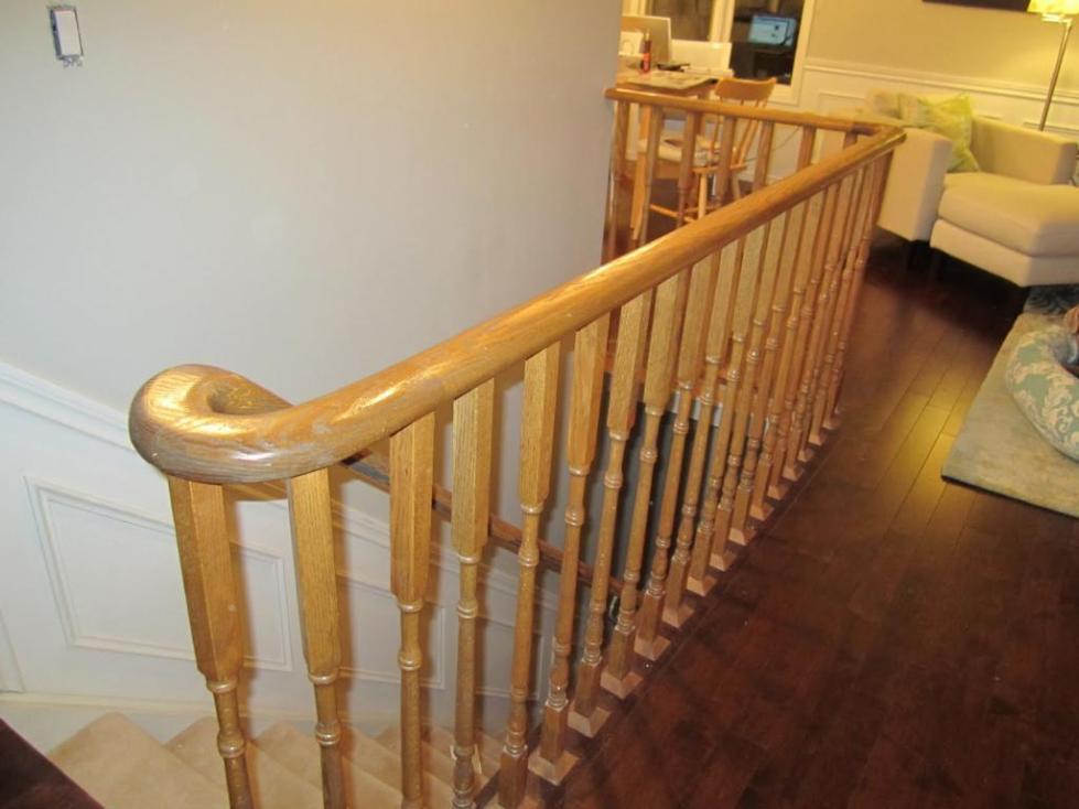 перила для лестниц из дерева