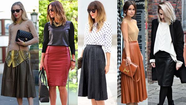 кожаные юбки модели образы