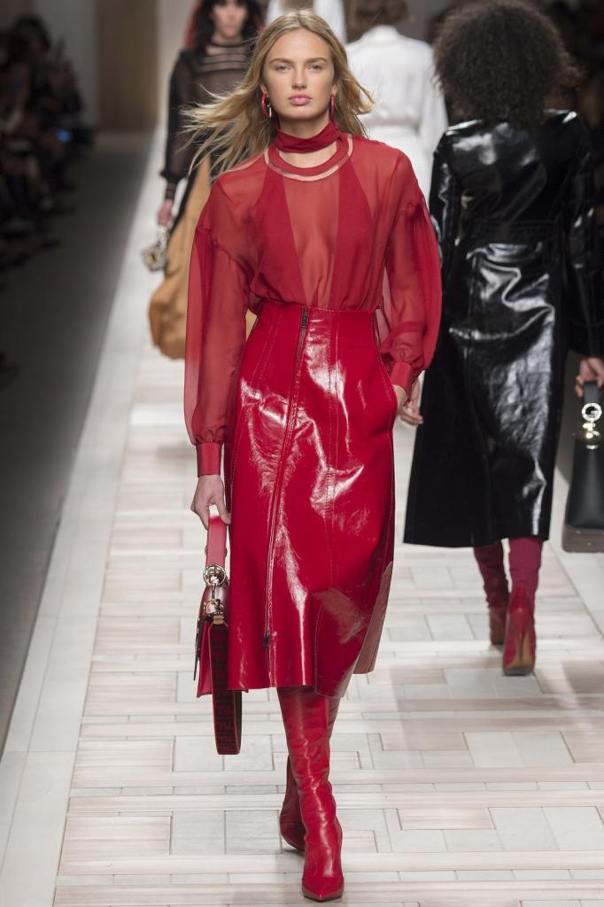 кожаные юбки модели цвета