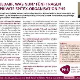 Publireportage für die PHS Private Spitex AG