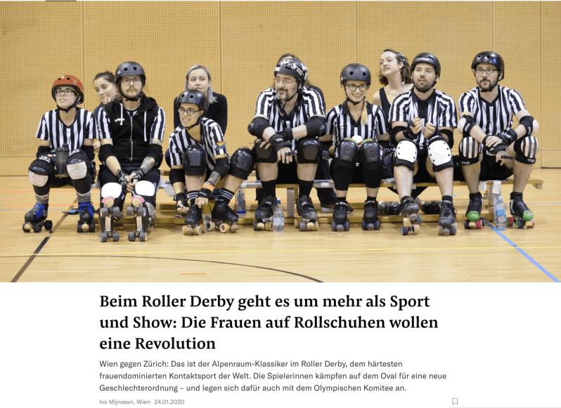 Im Roller Derby trägt Frau am liebsten Bart. (NZZ online, 24.1.2020)