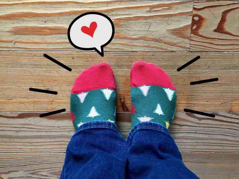 Weihnachtssocken (Bild: M. Schäfer, Textrakt)