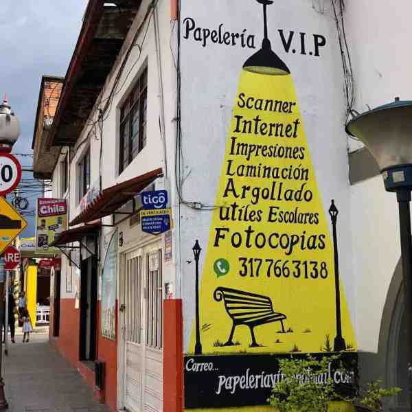 Werbung für eine Papeterie (Bild: M. Schäfer)
