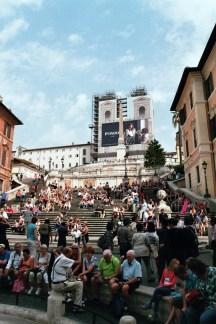 Spanische Treppe mit Blick auf die Trinità dei Monti