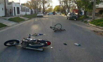 Moto contra bicicleta