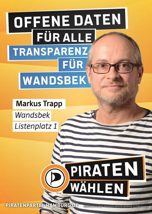 Wahlplakat Markus Trapp