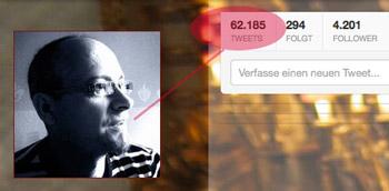 Schon über 62.000 Tweets veröffentlicht