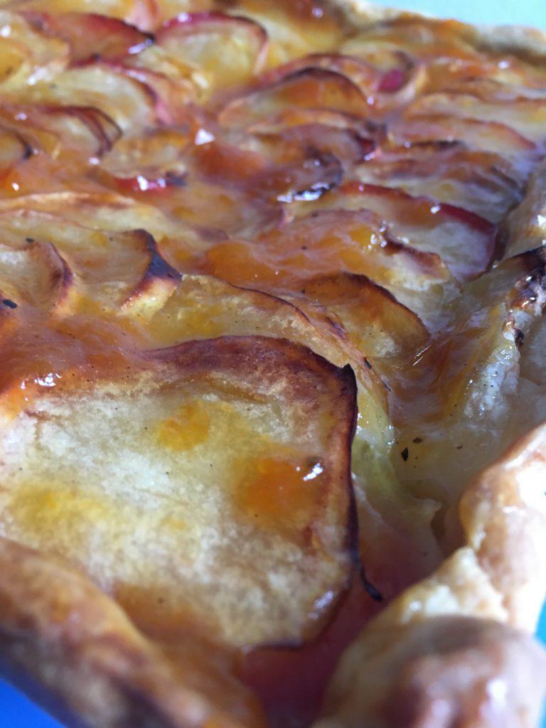 Apfelkuchen in der Nahaufnahme