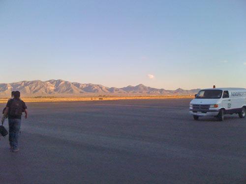 Flughafen Chihuahua mit Blick auf die Berge