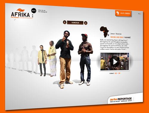 arte-Webreportage: Afrika – 50 Jahre Unabhängigkeit