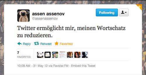 Tweet der Woche von @assenassenov