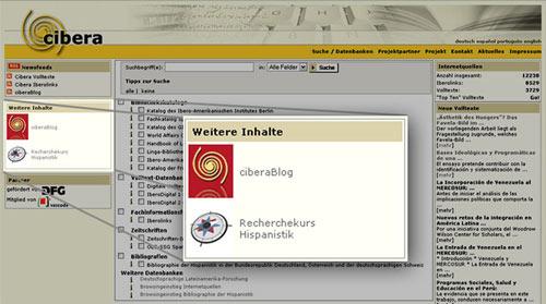 Integration der Web 2.0-Module in das Portal von cibera
