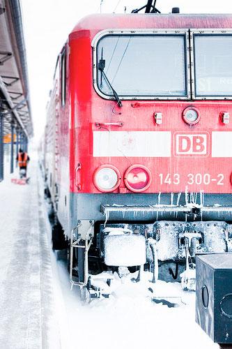 Die Bahn im Winter, Foto: Andreas Levers, 96dpi