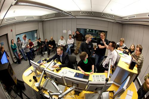 Das DRadio Wissen-Team im Studio