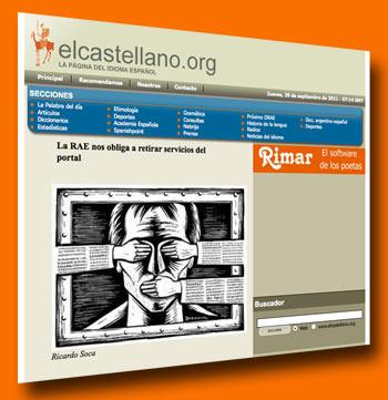 Screenshot elcastellano.org