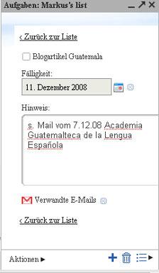 Gmail Tasks Details