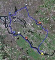 Google-Map zur Tour Zollenspieker Fährhaus