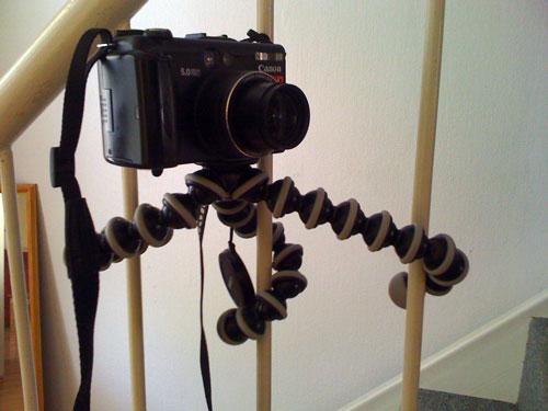GorillaPod ist auch ein Kamera-Stativ für kuriose Ecken